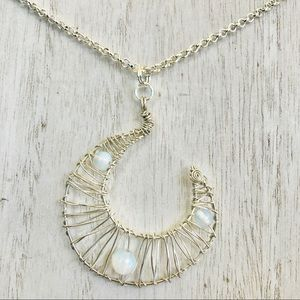 Kelseylee Artistry Jewelry - Moonlight Wire Wrap Necklace